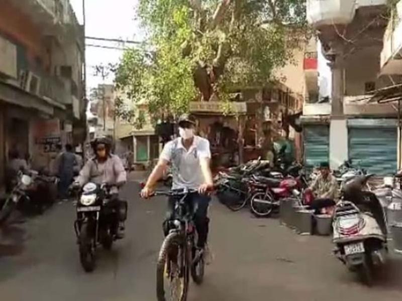 पुलिस की मुस्तैदी परखने सादा कपड़ों में साइकिल पर निकले जोधपुर पुलिस कमिश्नर