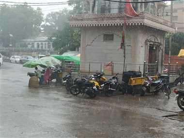 श्योपुरः शहर में आधे घंटे हुई झमाझम बारिश, 1277 औषत वर्षा दर्ज