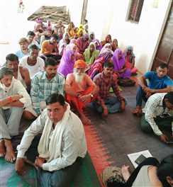 बाढ़-पीड़तों के मुआवजे पर दावे-आपत्ति बुलाने के लिए ग्राम पंचायतों में हुई विशेष सभा