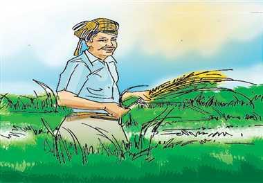 किसान मिलन समारोह में दी किसानों को योजनाओं की जानकारी