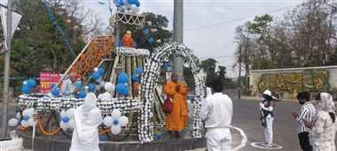 जिले में सादगी से मनाई डॉ. आंबेडकर की जयंती