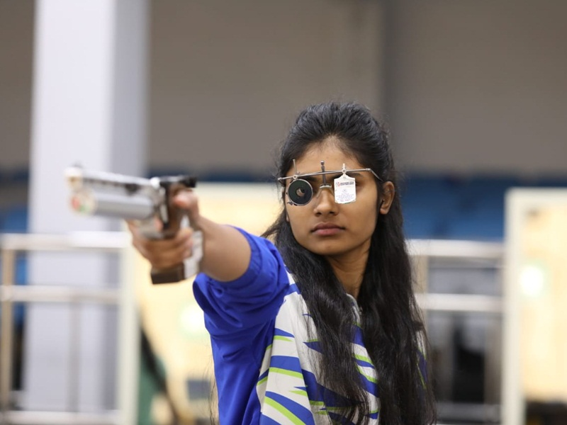 MP Shooting News Motor mechanics daughter Rubina wins gold in world para shooting with world record