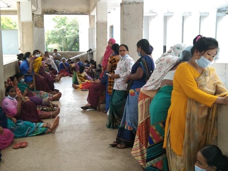 Workers Protest: भिलाई इस्पात संयंय के सेक्टर-9 अस्पताल में हड़ताल
