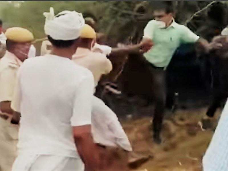 Rajasthan: मुआवजा मांग रहे किसानों पर SDM ने चलाई लात, सोशल मीडिया पर वायरल हुआ वीडियो