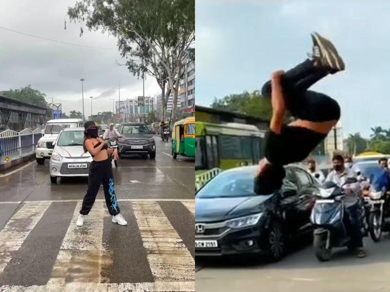 Viral Video Indore: इंदौर में माडल के डांस के बाद रसोमा चौराहे पर युवक के स्टंट का वीडियो वायरल