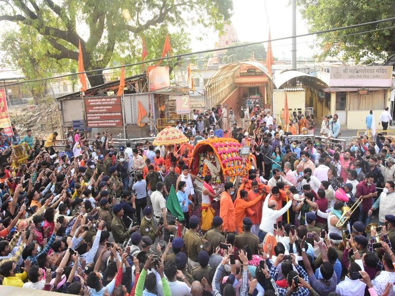 Ujjain News: महाकाल की कार्तिक मास की पहली सवारी में श्रावण जैसा उल्लास