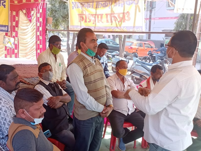 Raipur News : भिलाई में आंदोलनरत ठेकेदारों को अब प्रशासक पर भरोसा, करेंगे तीन दिन इंतजार