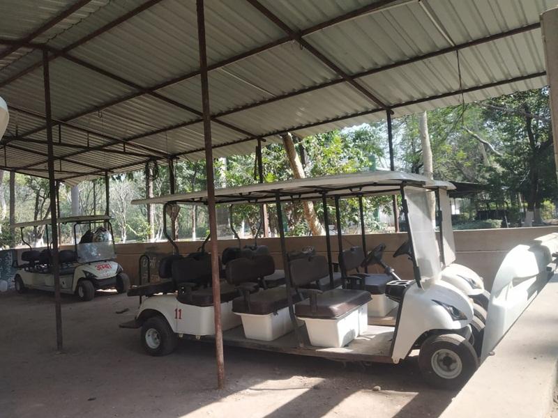Bilaspur News: कानन पेंडारी जू की बैटरी कार तैयार, जल्द पर्यटक करेंगे भ्रमण