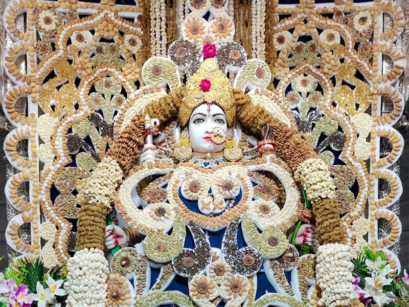 Chaitra Navratri 2021: पंचमी पर परमहंसी में भगवती त्रिपुर सुंदरी का पंचमेवा से मनोहारी श्रृंगार