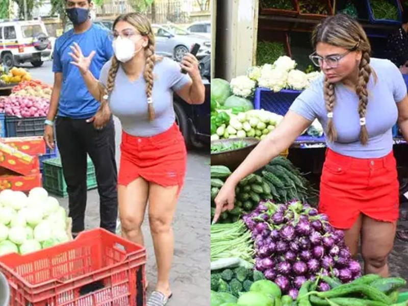 1650 रुपए का बिल देख राखी सावंत के होश उड़े, बिना फल और सब्जी लिए बाजार से लौटीं