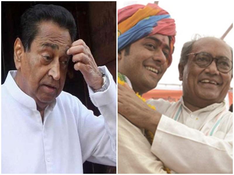 Madhya Pradesh Congress: कमल नाथ की नई टीम में बेटे जयवर्धन को कार्यकारी अध्यक्ष बनवाने की जुगत में दिग्विजय