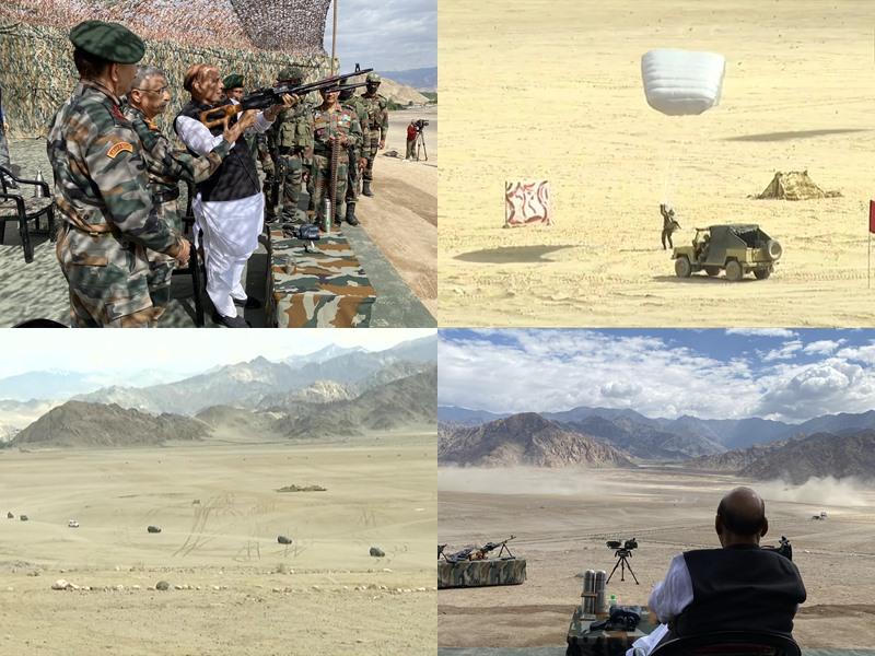रक्षा मंत्री राजनाथ सिंह पहुंचे लेह, LAC पर देखा पैरा कमांडोज का ऑपरेशन, जाएंगे फॉरवर्ड पोस्ट