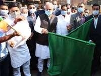 Raipur News : सीएम भूपेश बघेल ने दिखाई झंडी, किसानों के लिए अनाज और पैसा भेजा एनएसूयआइ ने