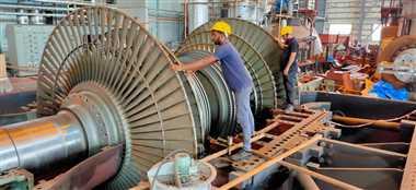सिंगाजी परियोजना की तीन नंबर इकाई में शुरू हुई टरबाइन की फिटिंग