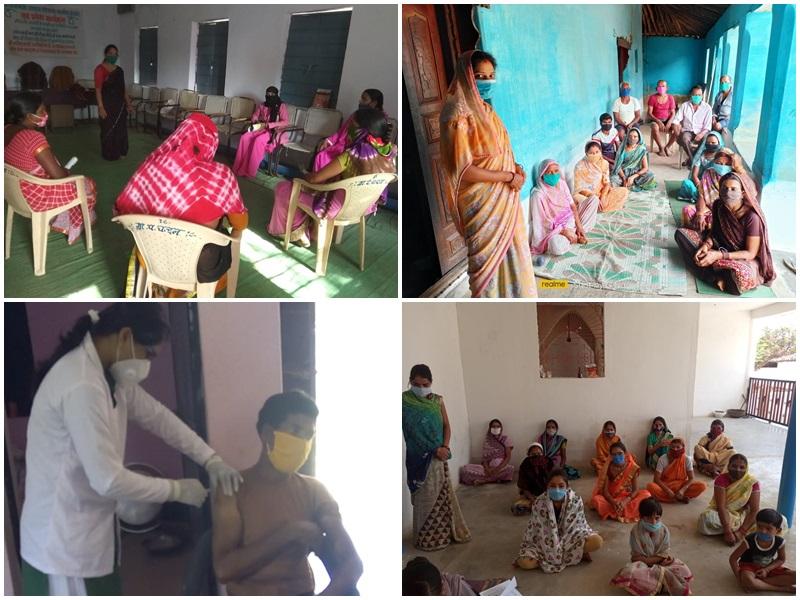 मध्य प्रदेश के बालाघाट जिले में कोरोना वैक्सीन से ग्रामीणों का कथित डर महिलाओं ने इस तरह किया दूर