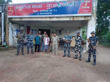 Naxalites In Dantewada: पांच लाख के इनामी नक्सली समेत दो गिरफ्तार