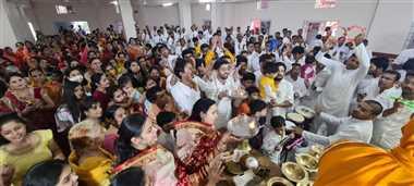 जैन समाज ने नगर में निकाली श्रीजी की शोभायात्रा