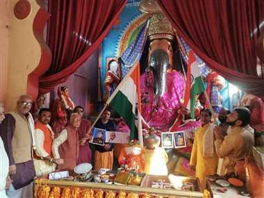 बड़ा गणेश मंदिर में समारोहपूर्वक मना गणतंत्र दिवस