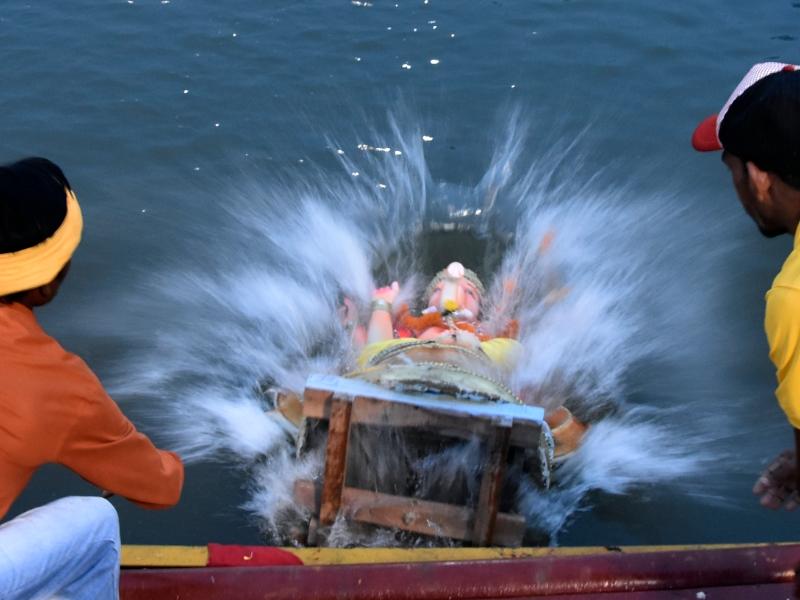 Ganesh Idol Immersion: नदी को प्रदूषण से बचाने के लिए आई जागरूकता, रायपुर में कुंड में विसर्जन