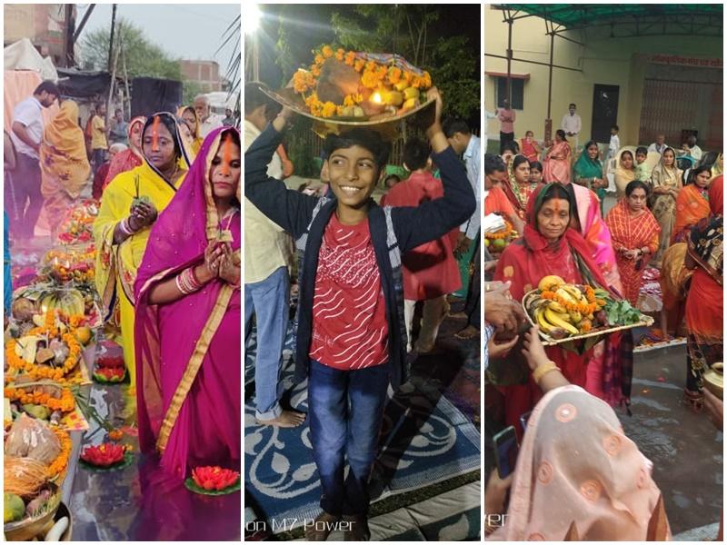 Chhath Puja 2020 Images : अस्ताचलगामी सूर्य को दिया अर्घ्य, देखें छठ पूजा की तस्वीरें