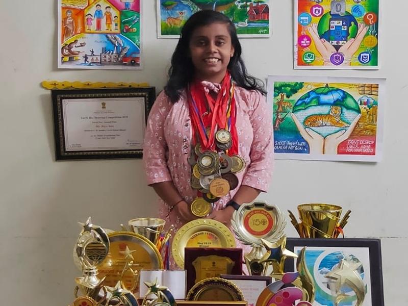 भोपाल की रिया जैन ने 8 अंतरराष्ट्रीय, 20 राष्ट्रीय सहित 100 अवार्ड जीते, अब मिलेगा बाल शक्ति पुरस्कार