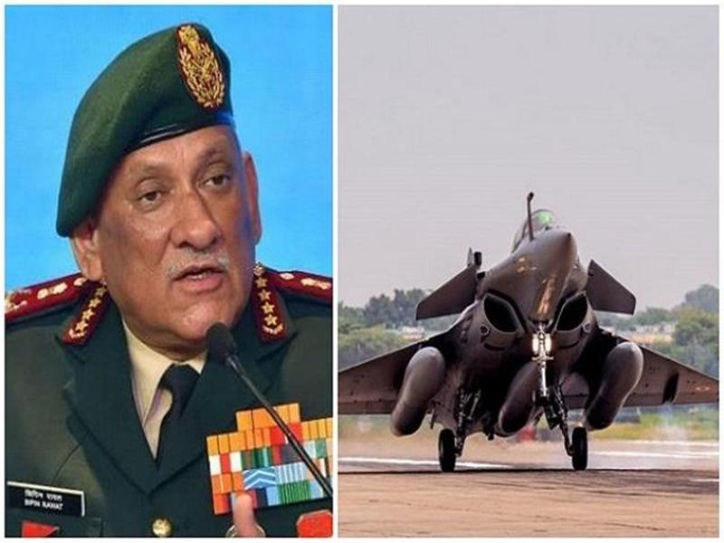 CDS बिपिन रावत आज भरेंगे राफेल में उड़ान, जोधपुर में फ्रांस के साथ चल रहा युद्धाभ्यास