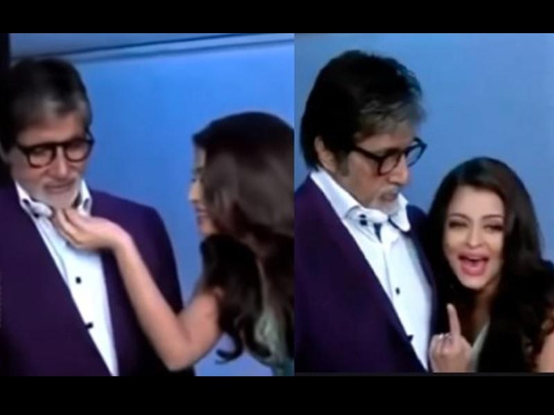 झेंप गए Amitabh Bachchan ने Aishwarya Rai से कहा था - आराध्या जैसी हरकत मत करो