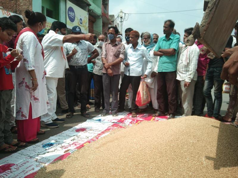 Madhya Pradesh Live News Updates: बीना में किसानों ने चौराहे पर गेहूं फैलाकर किया प्रदर्शन