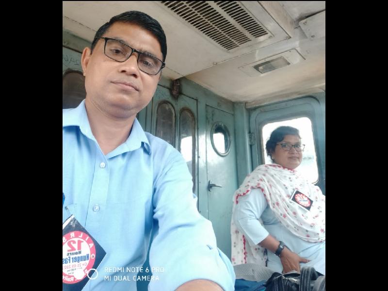 Bilaspur Railway News: उपवास रहकर चालक चला रहे ट्रेन, लाबी के सामने प्रदर्शन व नारेबाजी