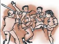 लुटेरों ने की दंपती से मारपीट, जेवर व रुपये ले गए