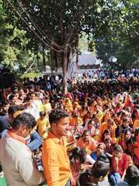 डबराः श्रीराम जन्मभूमि तीर्थ क्षेत्र निधि समर्पण महा अभियान में निकली विशेष कलश यात्रा