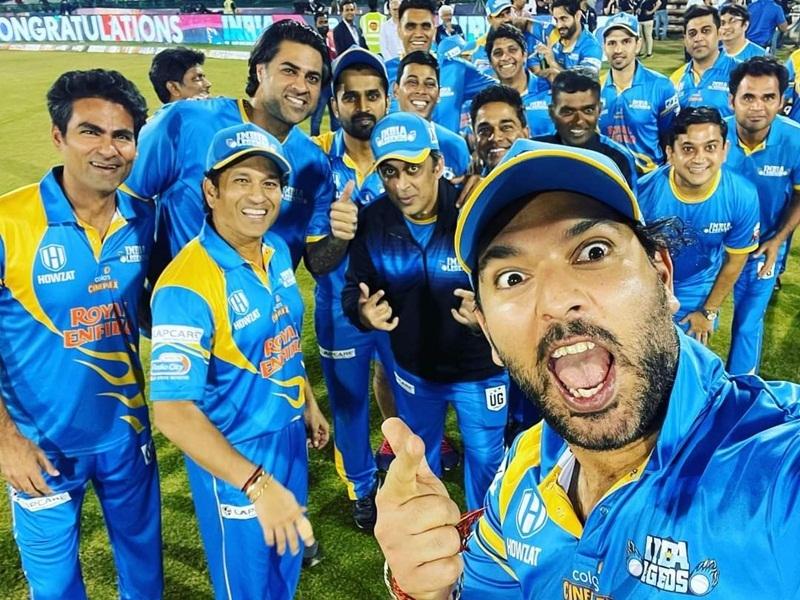 Road Safety World Series: इंडिया लीजेंड्स की जीत पर समर्थकों और खिलाड़ियों ने की जमकर मस्ती