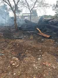 गेहूं की खड़ी फसल जलकर हुई राख, किसान को करीब 70 हजार की हुई क्षति