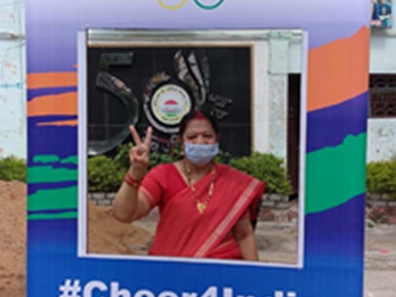 Cheer For India: चीयर फार इंडिया सेल्फी प्वाइंट की शुरुआत