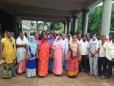 राजीव नगर आवास योजना के लिए भानपुरी के ग्रामीणों ने किया जमीन देने से इनकार