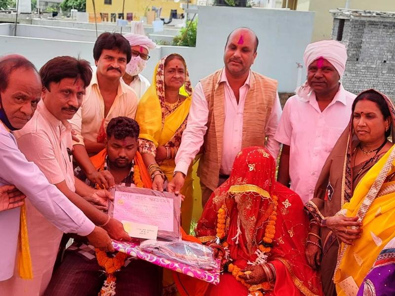 Remarriage In Raipur News: रायपुर ब्राइट फाउंडेशन के 68वीं शादी में शामिल हुआ सेन समाज