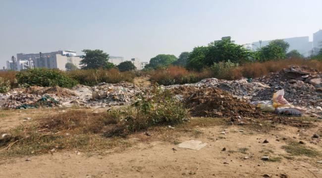जबलपुर में फिर कचराघर बन गए खाली प्लाट