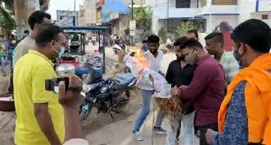 अजा मोर्चा के नेतृत्व में भाजपा कार्यकर्ताओं ने किया पुतला दहन