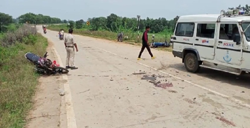 अनूपपुर में दो मोटरसाइकिल की भिड़ंत, पिता-पुत्र सहित एक युवक की मौत