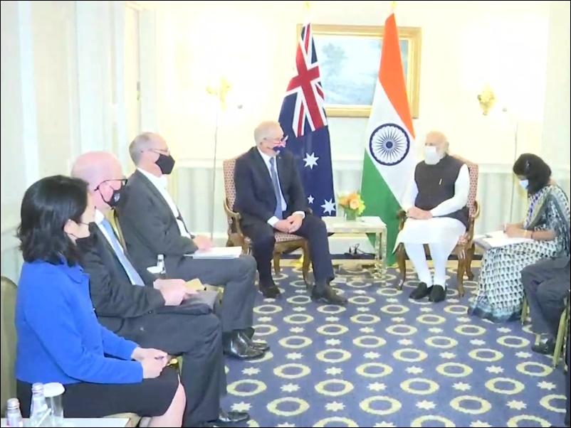 PM Modi US Visit Updates: ऑस्ट्रेलियाई पीएम स्कॉट मॉरिसन से मिले मोदी, कोविड -19, व्यापार, रक्षा, ऊर्जा सहित अन्य मामलों में द्विपक्षीय सहयोग पर चर्चा