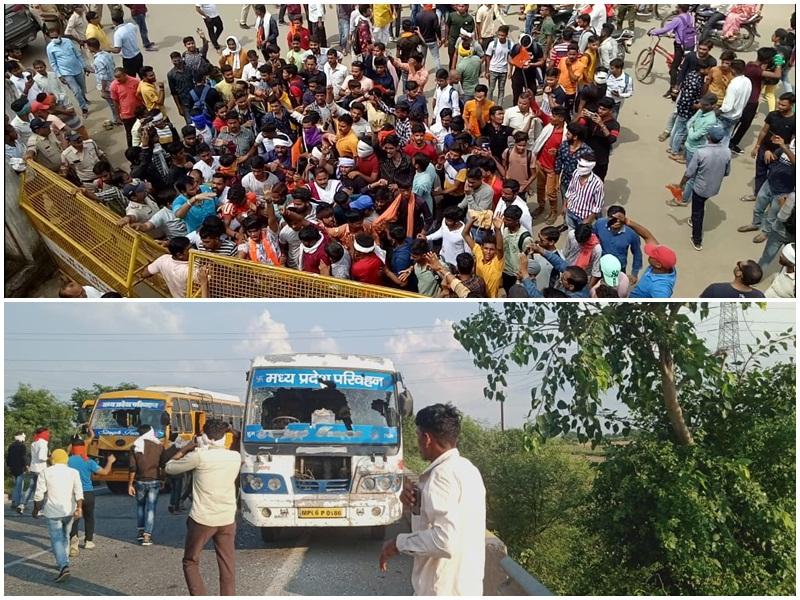 Moreana Raja Mihir Bhoj statue controversy: क्षत्रिय युवाओं ने घेरा कलेक्टोरेट, गुर्जर एकता के नारों के साथ हाइवे पर वाहनों की तोड़फोड़