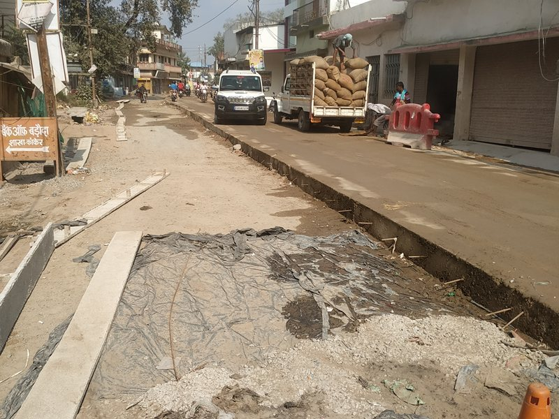 त्योहार के बाद शुरू नहीं हुआ सड़क निर्माण