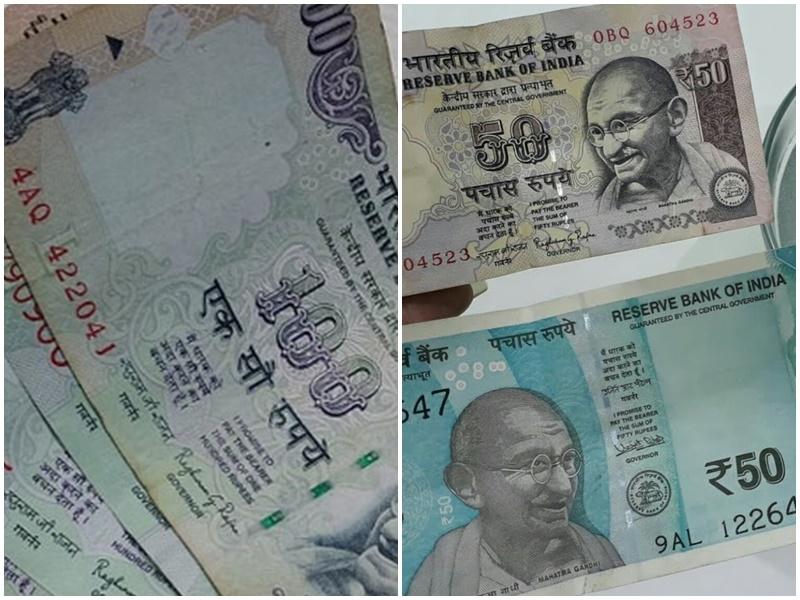 नोटों से भरी जलती बोरी मिली, 100, 50, 20 और 10 रुपए के नोट बटोरने की मची होड़