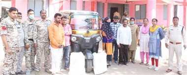 ओडिशा के आटो से गांजा तस्करी करते चार आरोपित गिरफ्तार