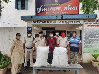 35 किलो गांजा के साथ पकड़ा गया युवक