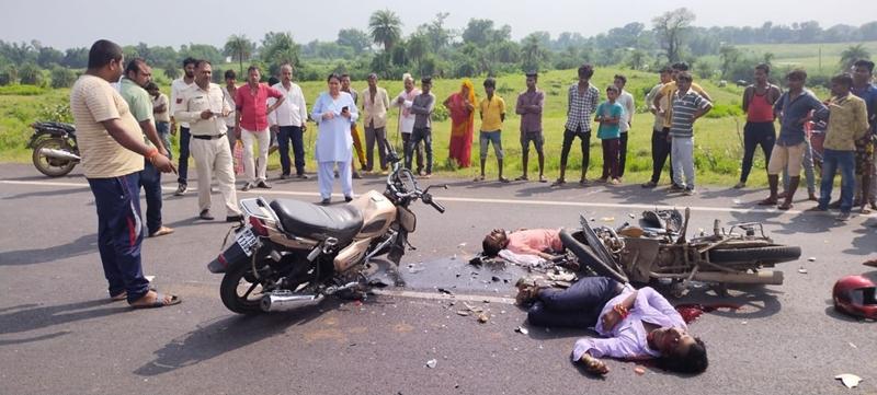 सतना-चित्रकूट रोड में दो मोटरसाइकिलें भिड़ीं, दो की मौत, दो घायल