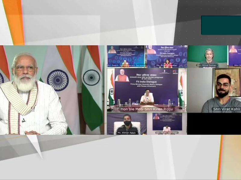 Fit India Dialogue: फिटनेस को लेकर पीएम मोदी और Virat Kohli के बीच हुई ये बातें