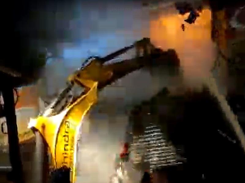 Fire in Indore: Video  इंदौर में रिवर साइड रोड पर भीषण अग्निकांड, कपड़े की दुकानें जली