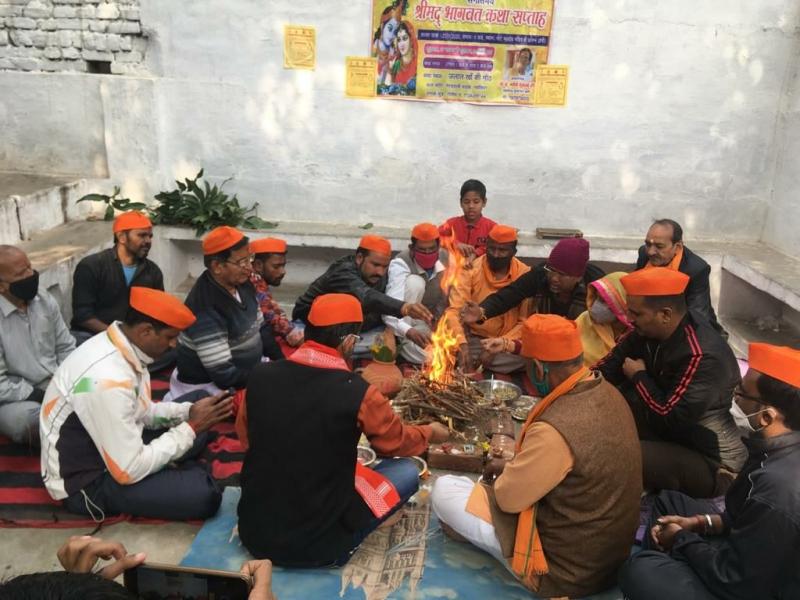 Gwalior news :  कोरोना योद्धाओं की आत्मा की शांति के लिए श्रीमद् भागवत का आयोजन