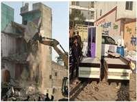 Indore News: राशन माफिया श्याम दवे के मूसाखेड़ी और मोती तबेला में अवैध निर्माण ध्वस्त